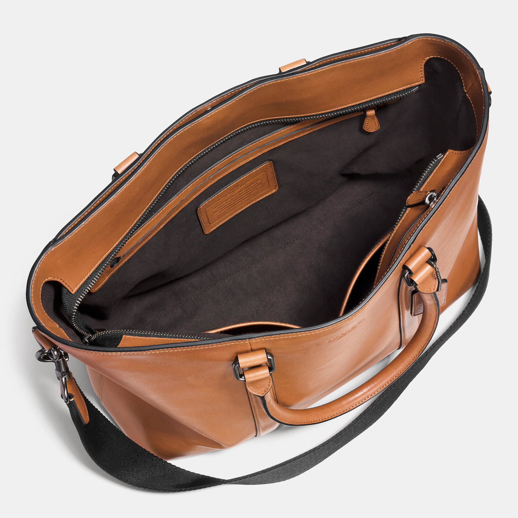 138adc97c1aa Lyst - COACH Metropolitan Tote In Sport Calf Leather in Brown for Men