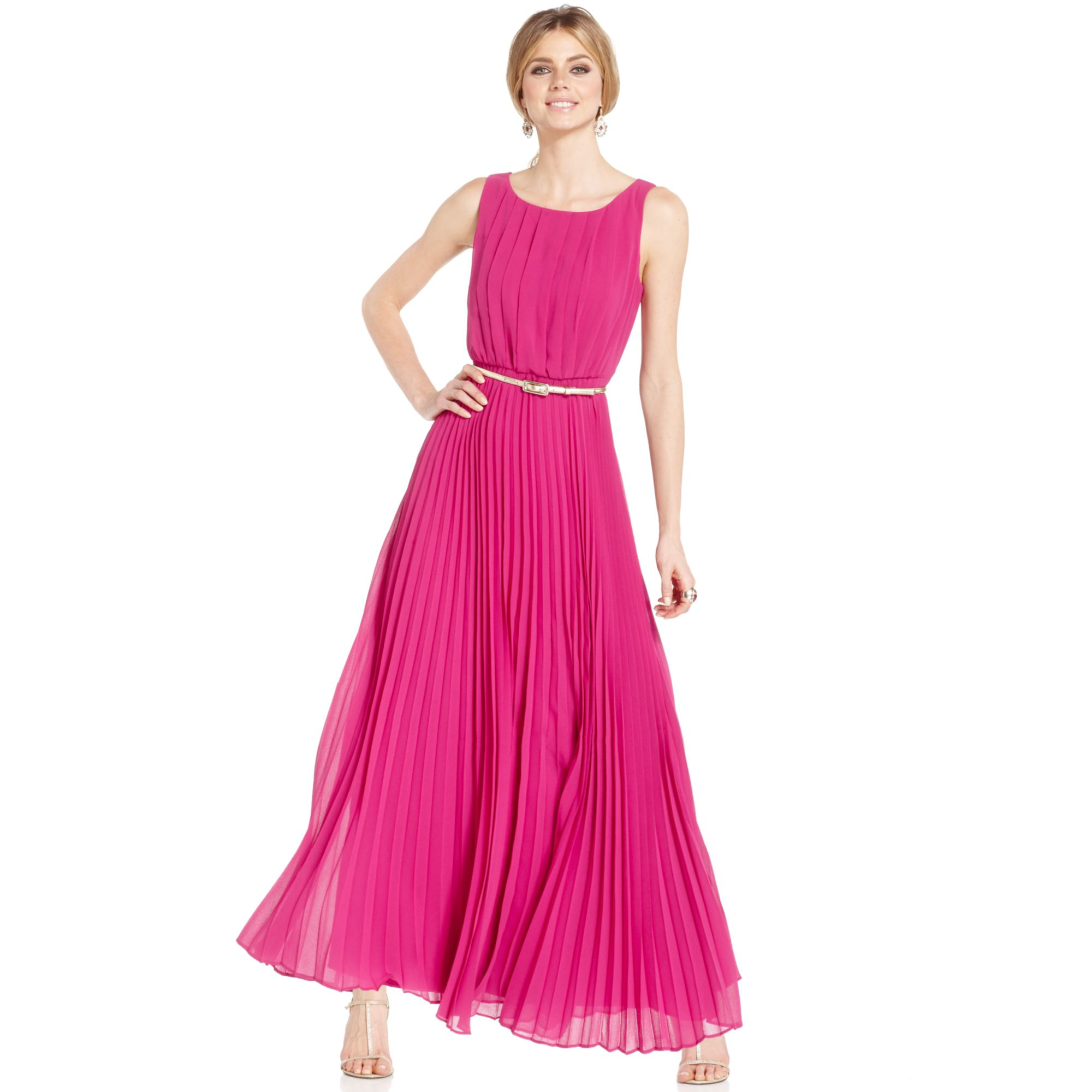 Eliza j lace pleated halter dress
