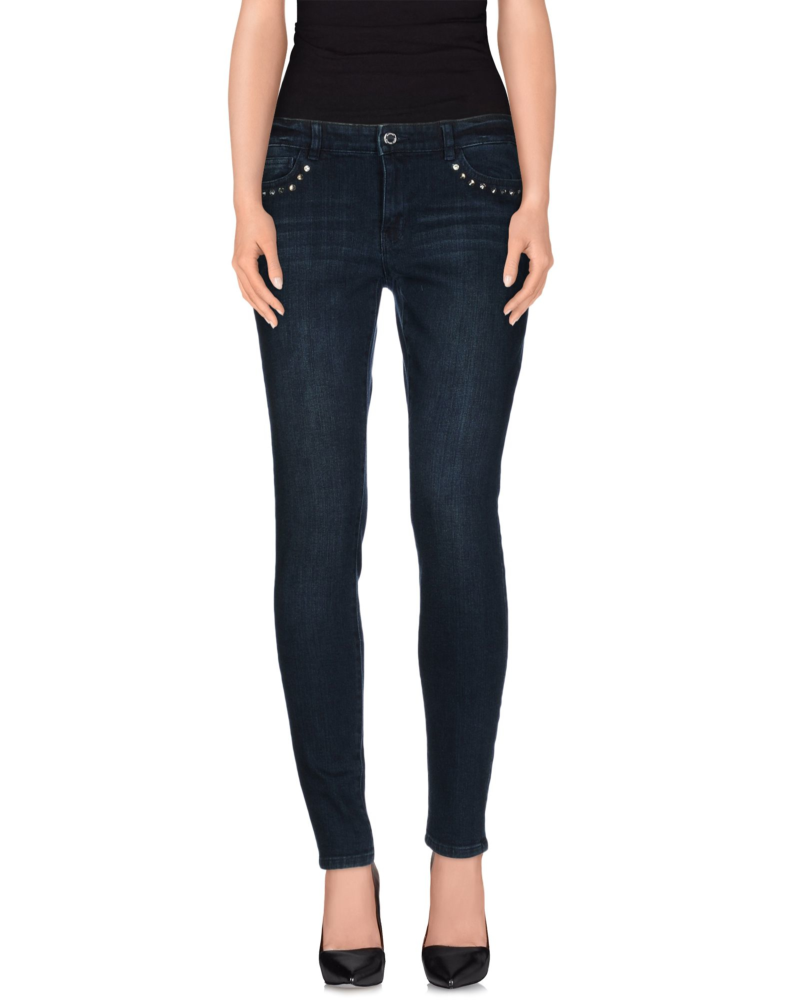 michael kors denim pants in blue lyst. Black Bedroom Furniture Sets. Home Design Ideas