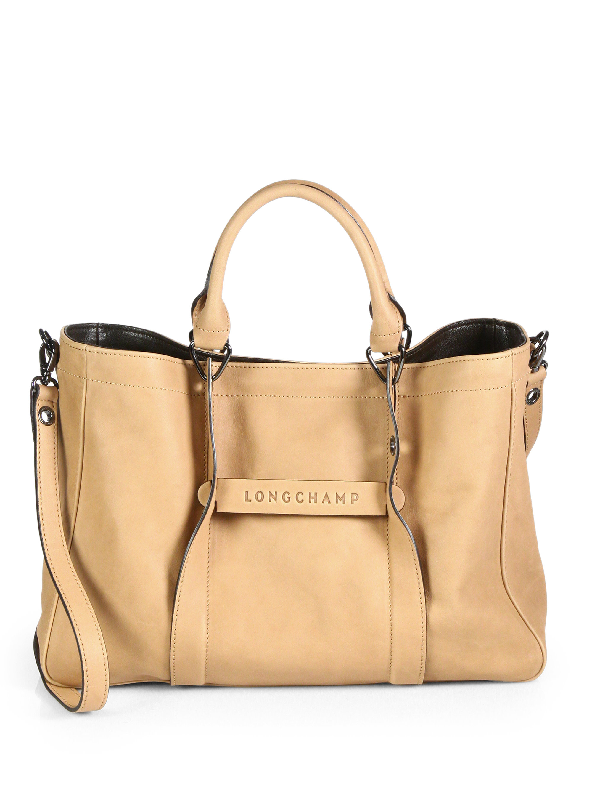 75f8e2afcbb5 Lyst - Longchamp 3D Medium Leather Tote in Brown