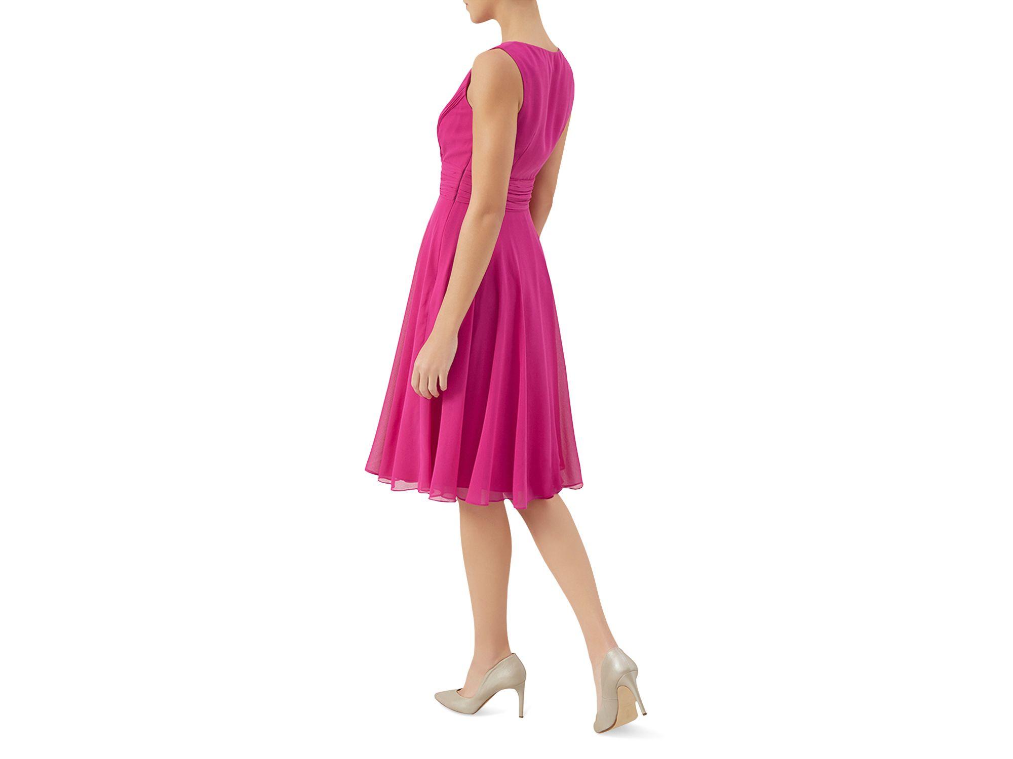 Lyst - Hobbs Jacqueline Chiffon Dress in Purple