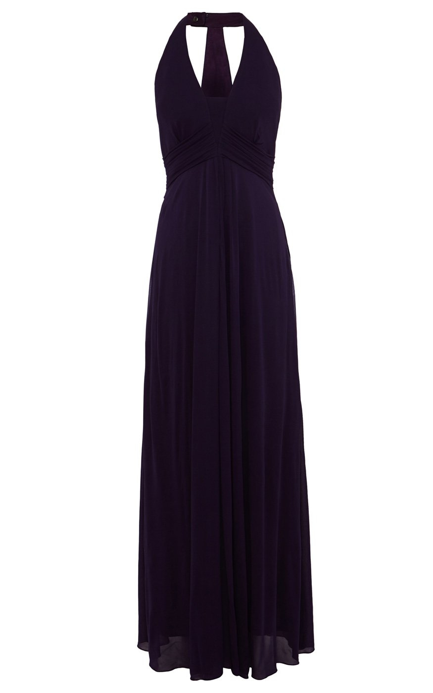 Lyst Karen Millen Halterneck Draped Jersey Maxi Dress In