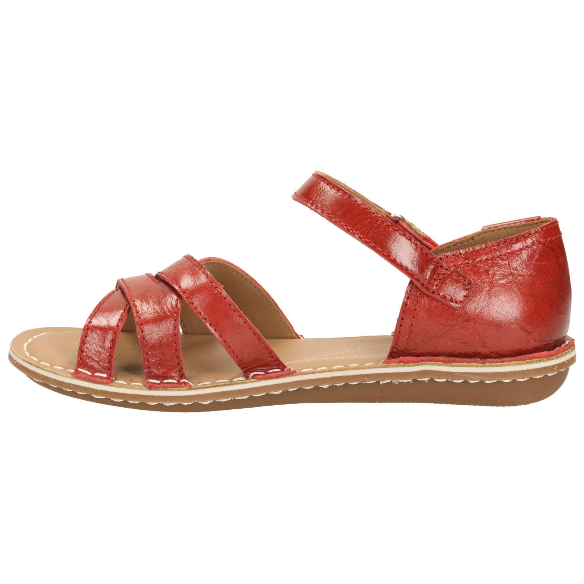 Clarks Tustin Sahara Leather Sandals In Red Lyst