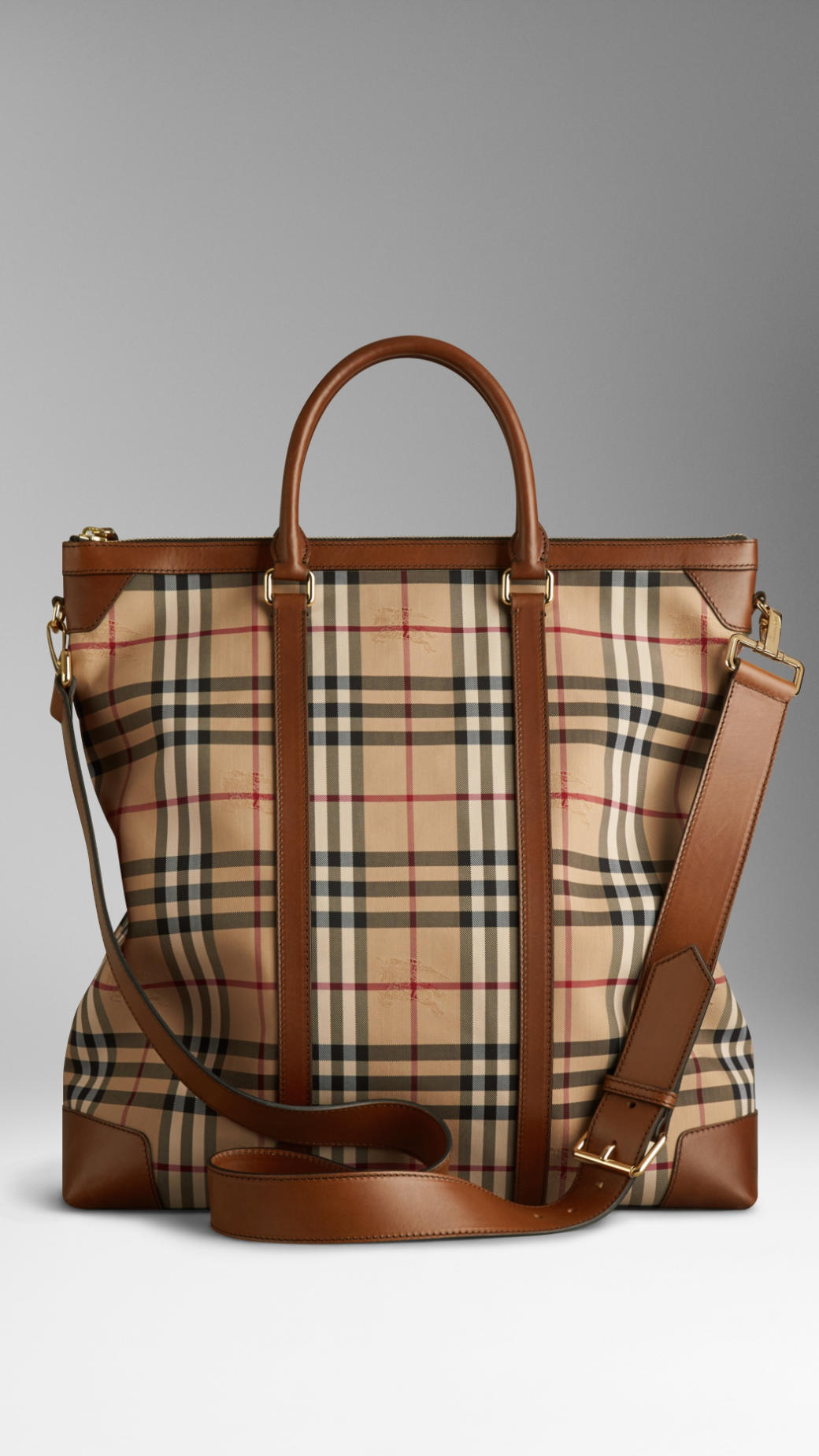 af707b688d4a Lyst - Burberry Large Horseferry Check Leather Tote Bag in Brown for Men
