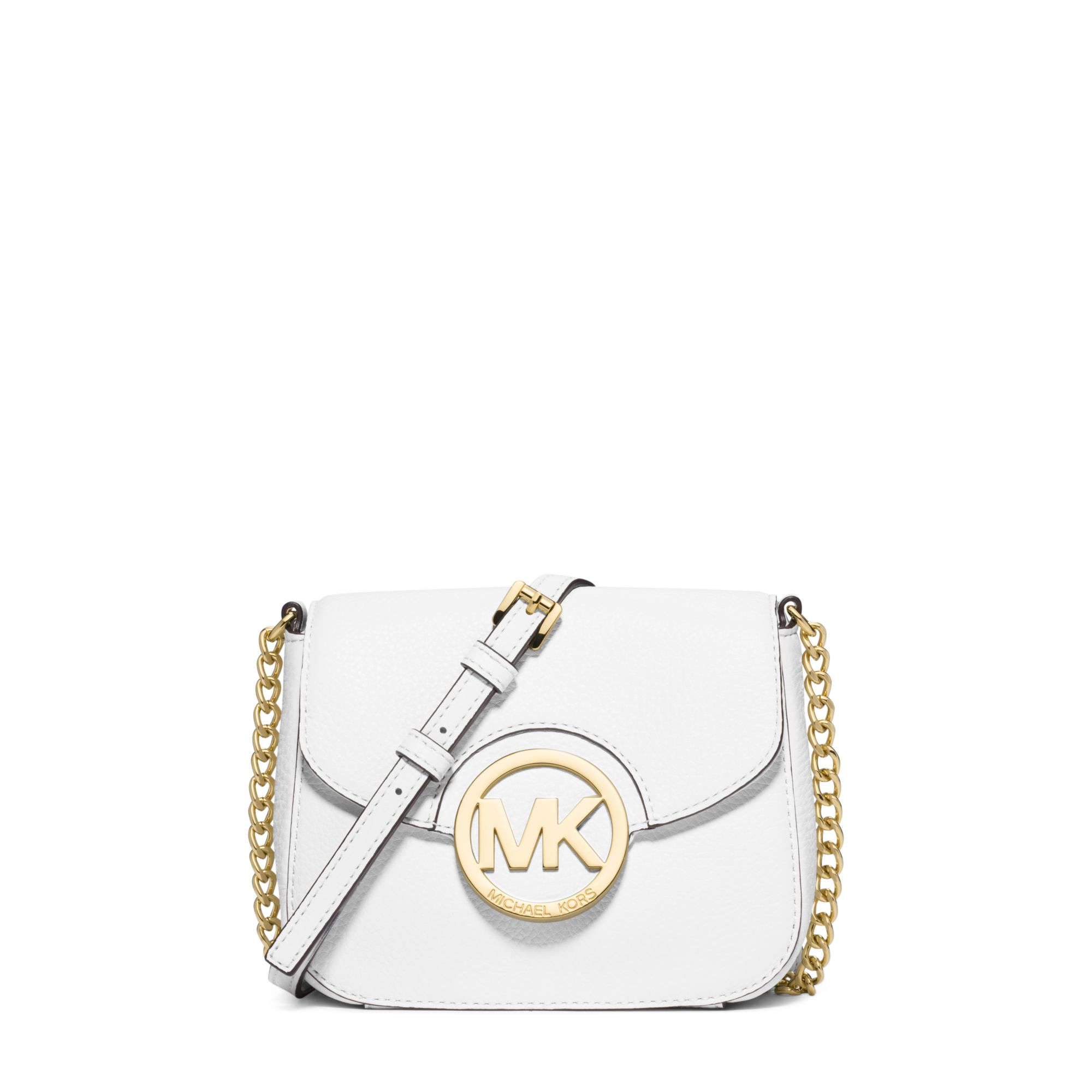 fbc71f4d838d Michael Kors Fulton Leather Small Crossbody in White - Lyst