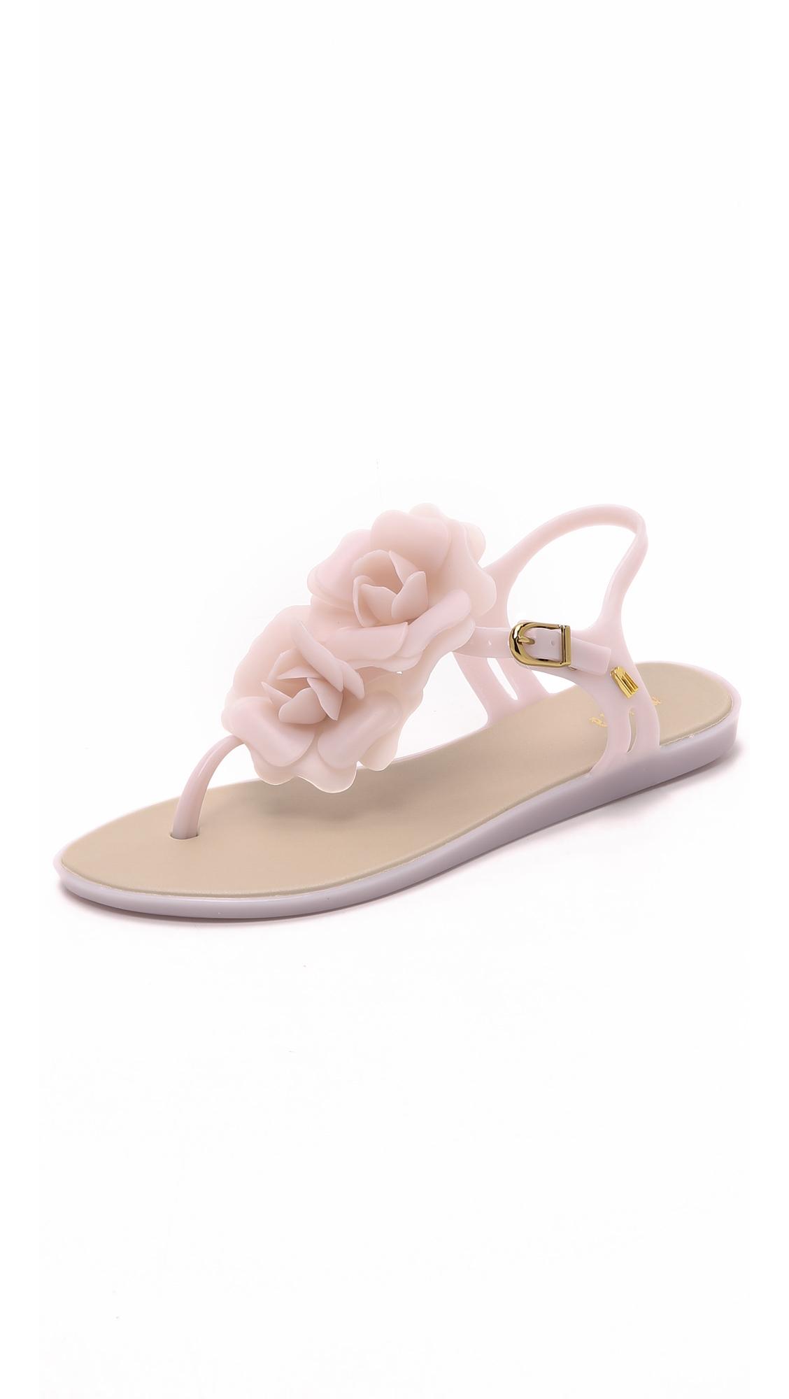 14deadb17083e2 Melissa Solar Garden Sandals in Natural - Lyst