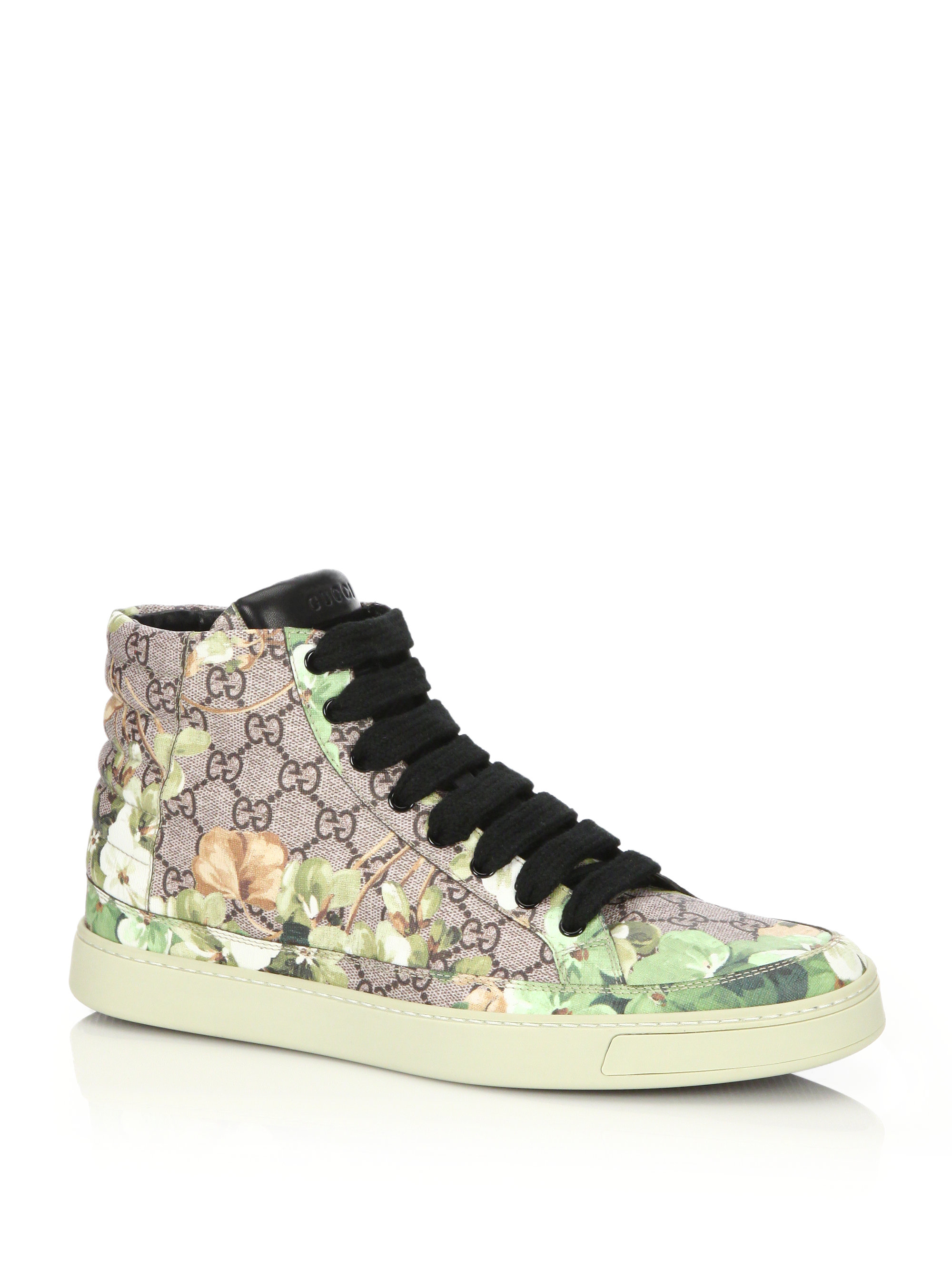 3cc3d7ef664 Lyst - Gucci Blooms Print High-top Sneakers for Men