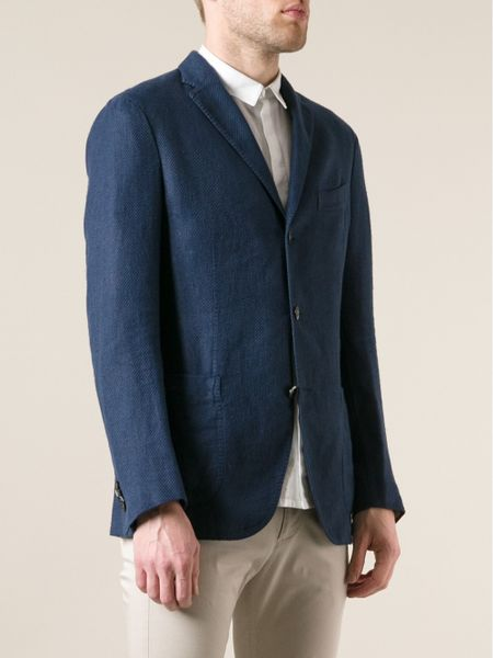 Boglioli Corduroy Blazer In Blue For Men Lyst