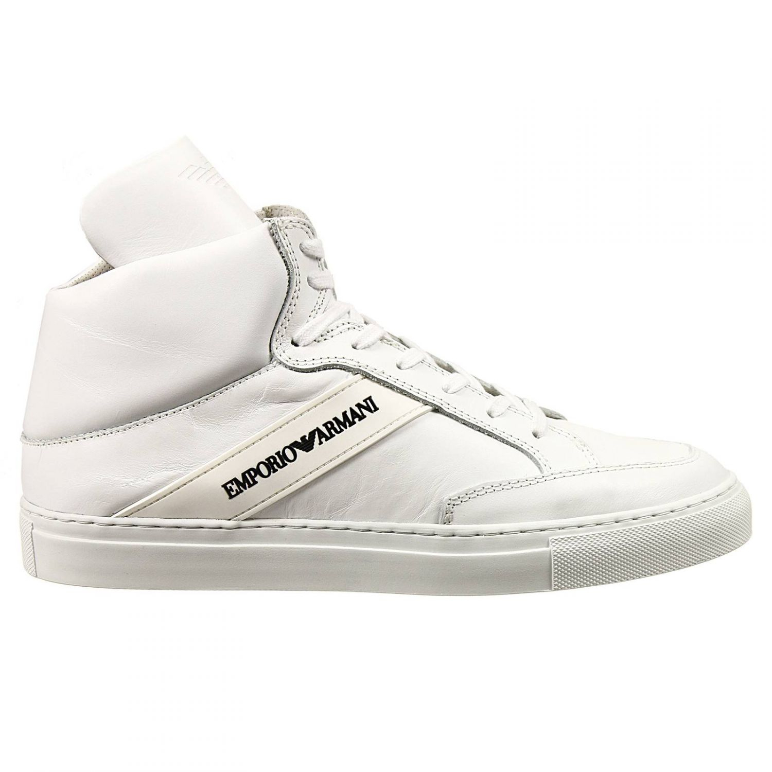 d3edc4ffe00 Lyst - Emporio Armani Sneakers Shoes Ankle Boots In Leather With ...