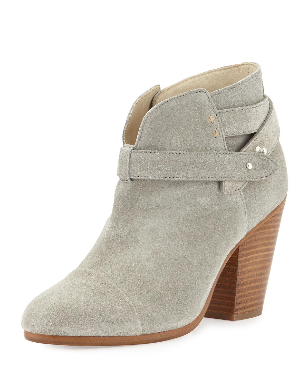 rag bone harrow leather ankle boot in gray lyst