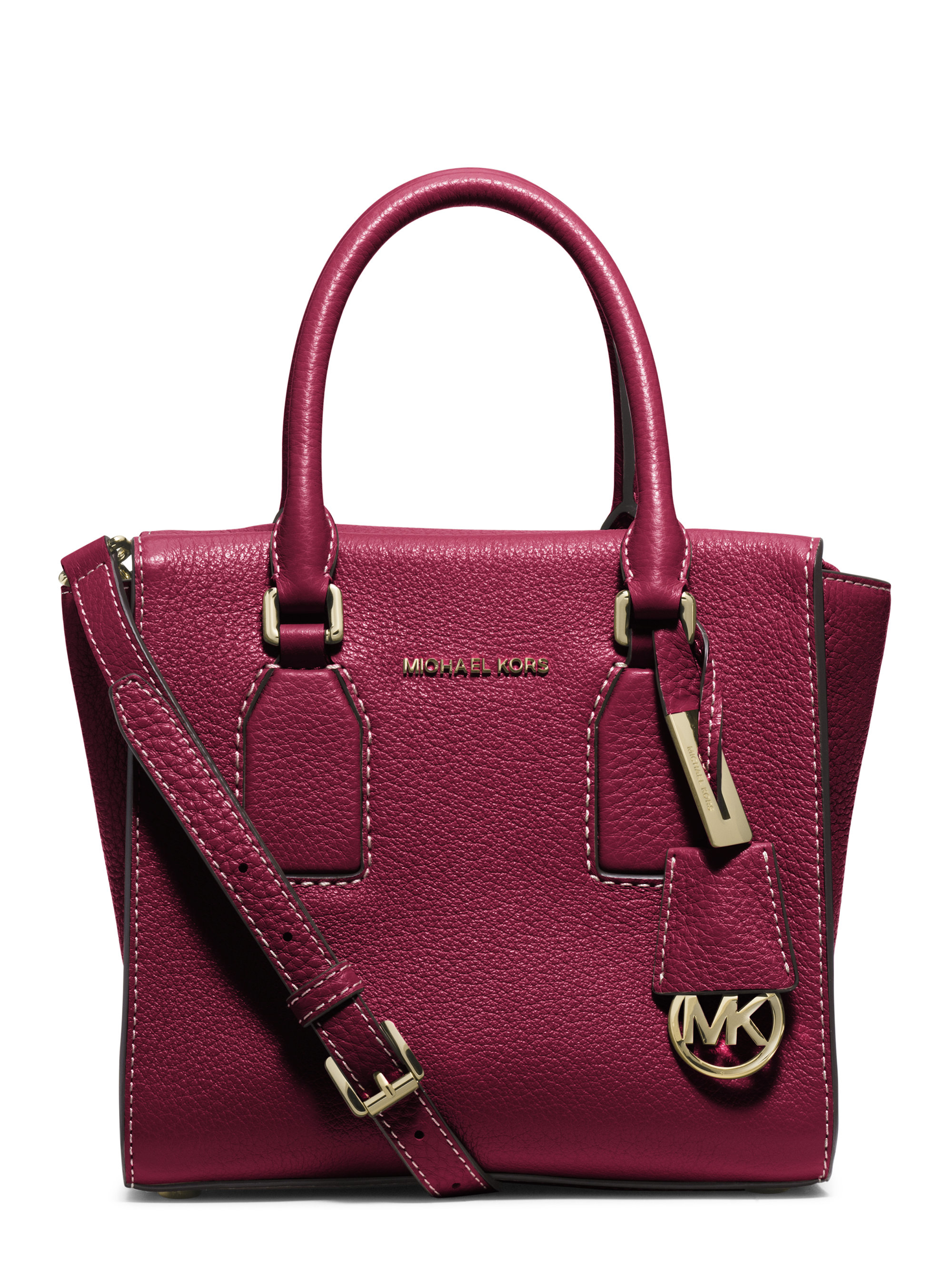 0b6057d639ddcc ... czech lyst michael michael kors selby medium leather satchel in 90f7d  f6436
