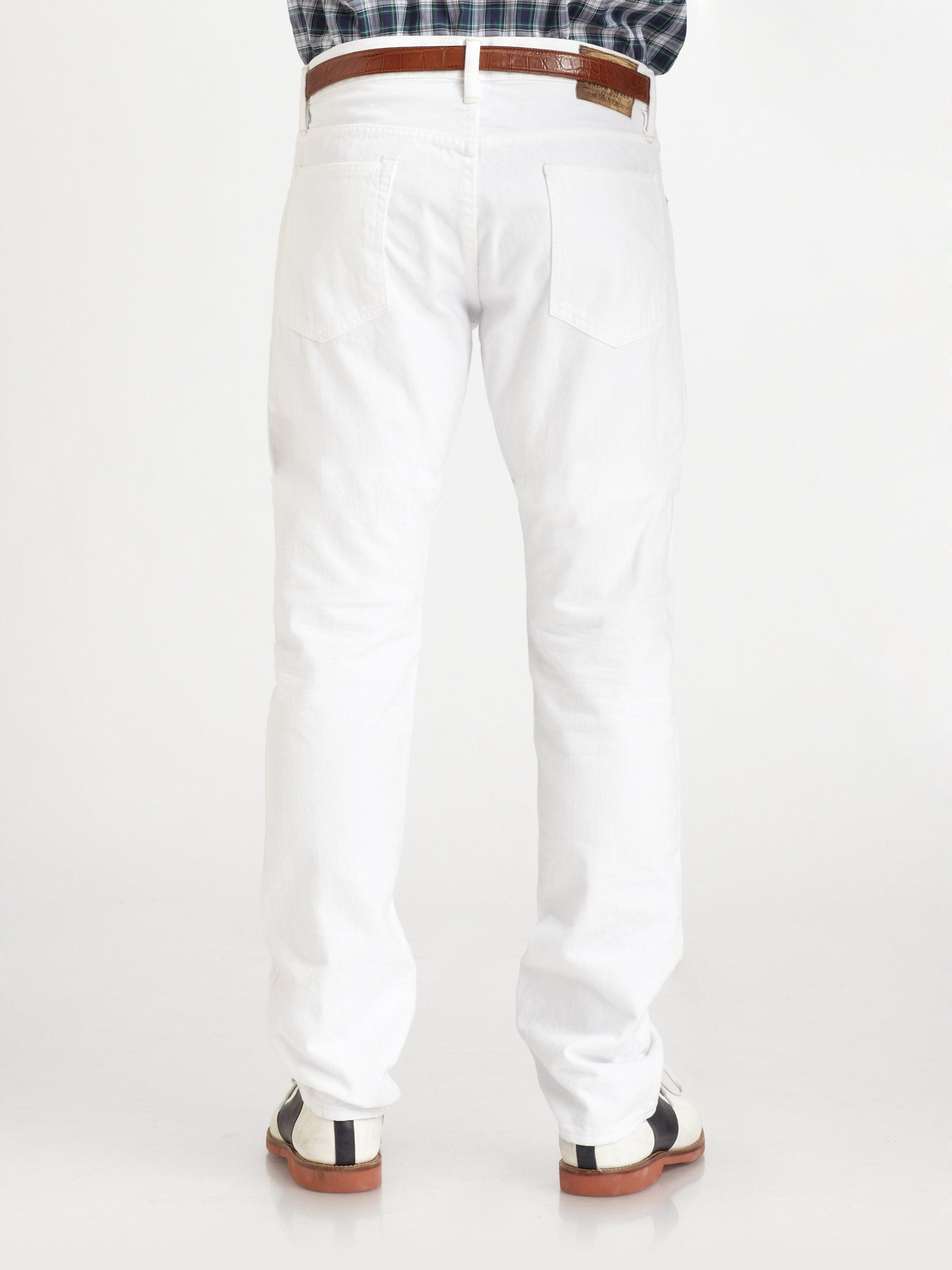 Polo Ralph Lauren Varick Slim Fit Jeans In White For Men
