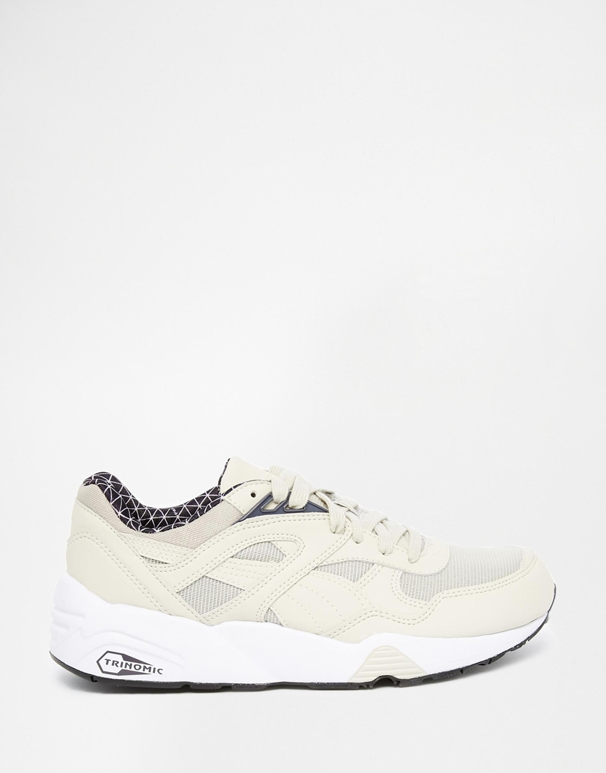 72a4b14b40bd ... spain lyst puma r698 trinomic pwrw reflective oatmeal trainers in  natural a9813 23bb4