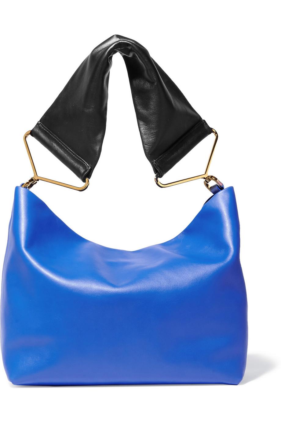 6697c159f7c5 Marni Maxi Strap Leather Shoulder Bag in Blue - Lyst