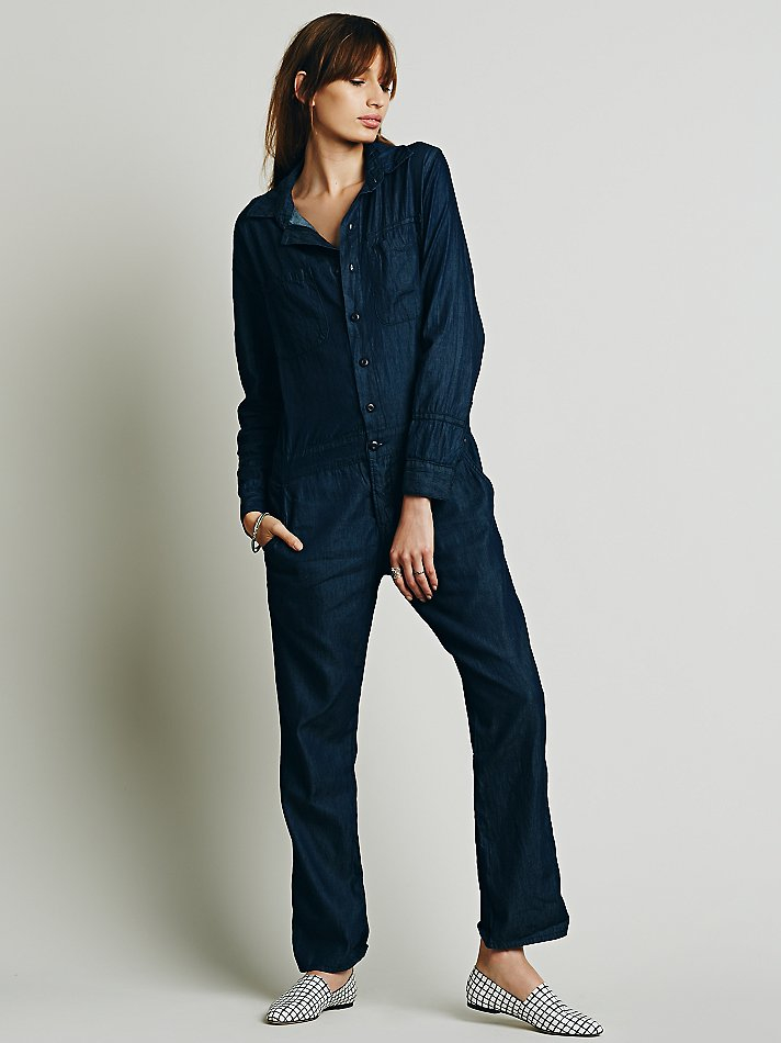 Lyst Free People Mechanic Jumpsuit In Blue