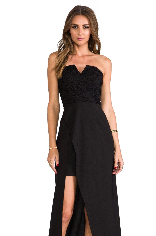 Lyst Keepsake First Date Maxi Dress In Black In Black