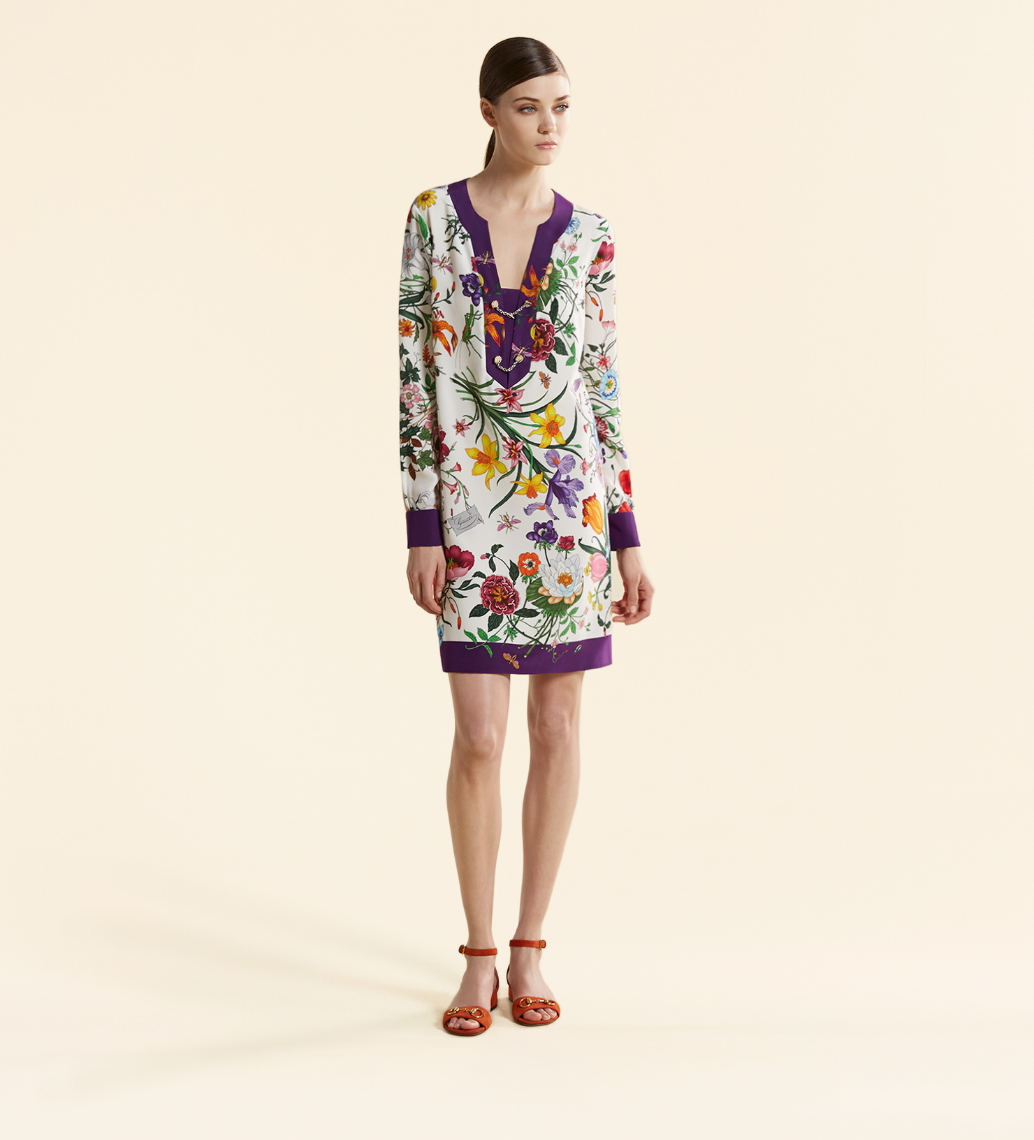 Borse Da Cerimonia Gucci : Gucci silk cr?pe de chine long sleeve dress lyst