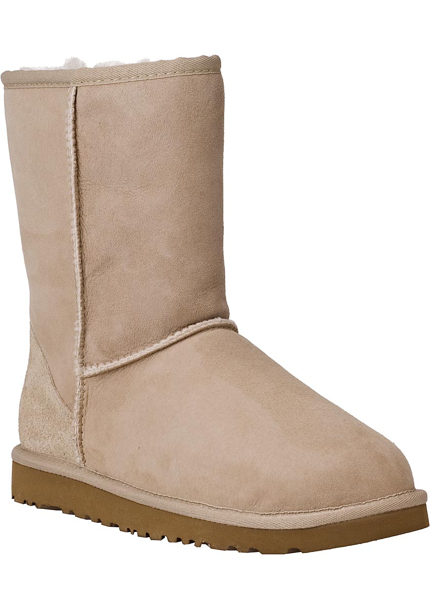 ugg classic short boot sand suede in natural lyst. Black Bedroom Furniture Sets. Home Design Ideas