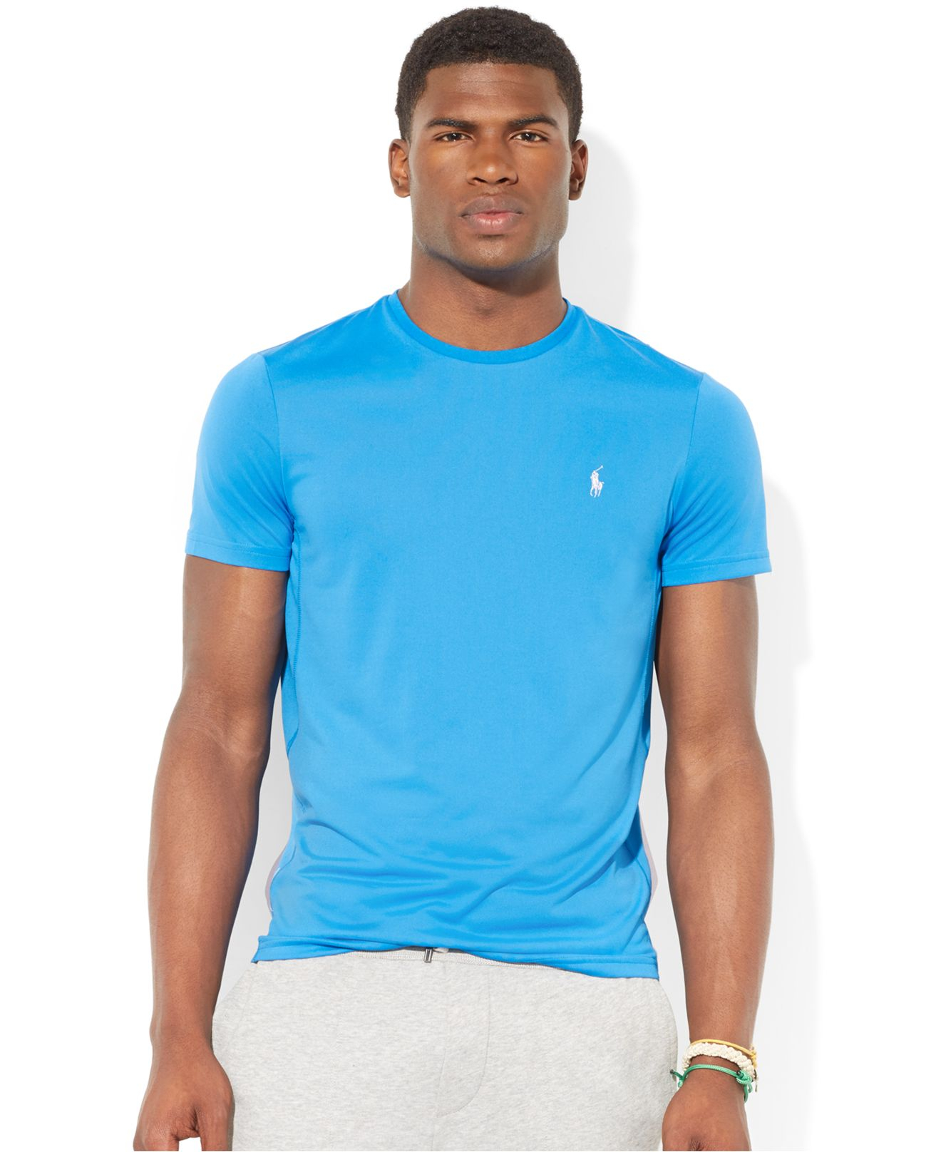 524f0c7bf Polo Ralph Lauren Jersey Performance T-shirt in Blue for Men - Lyst