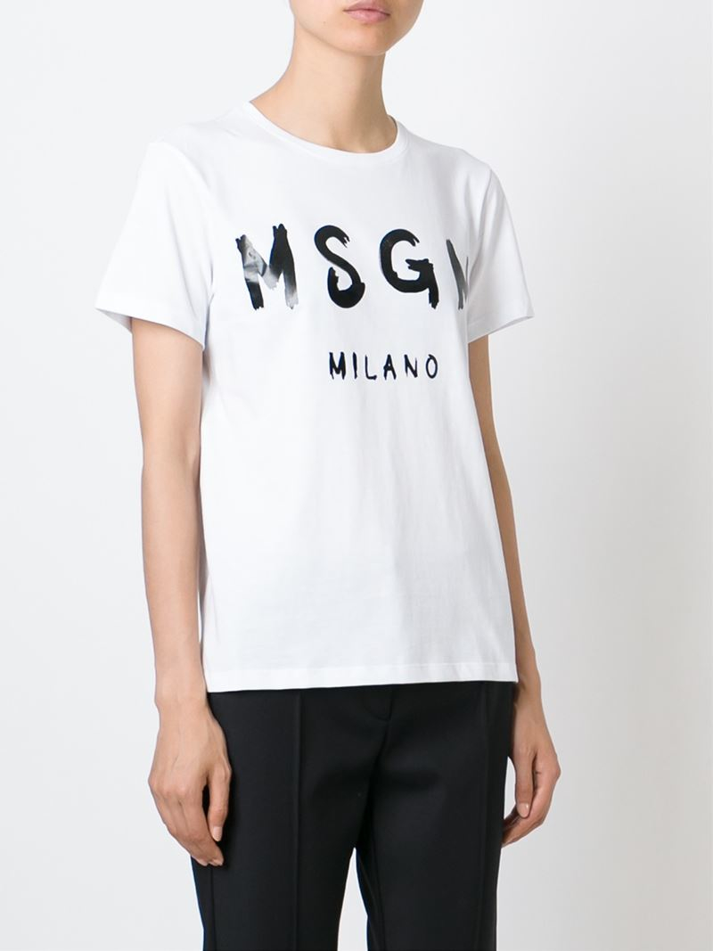 100% Guaranteed Cheap Online Cheap Price Original t-shirt with logo Msgm Discount Get To Buy Fashion Style For Sale Quality From China Wholesale 8uhhksJ