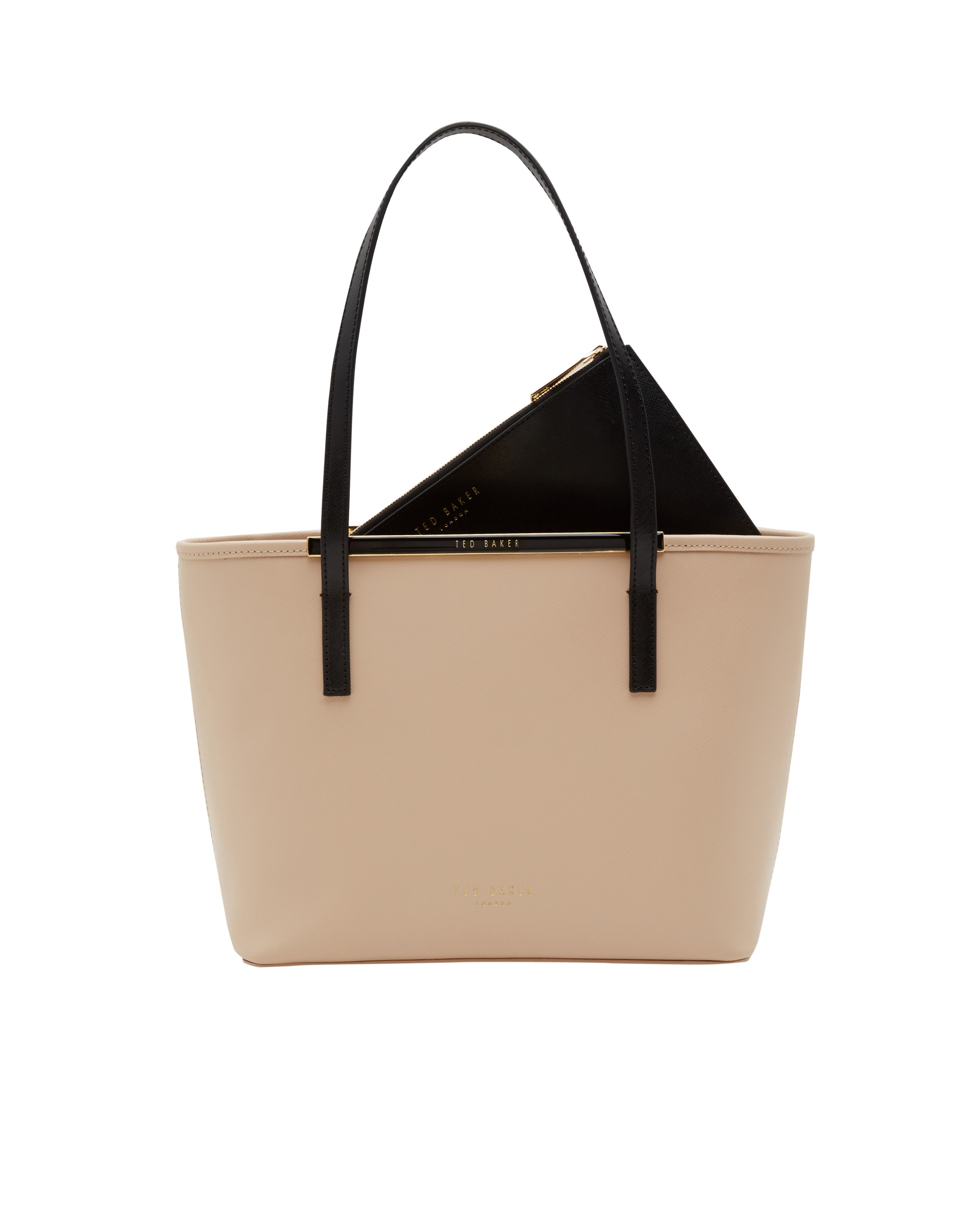 Ted Baker Estele Small Crosshatch Shopper Bag in Brown - Lyst 3a35183037