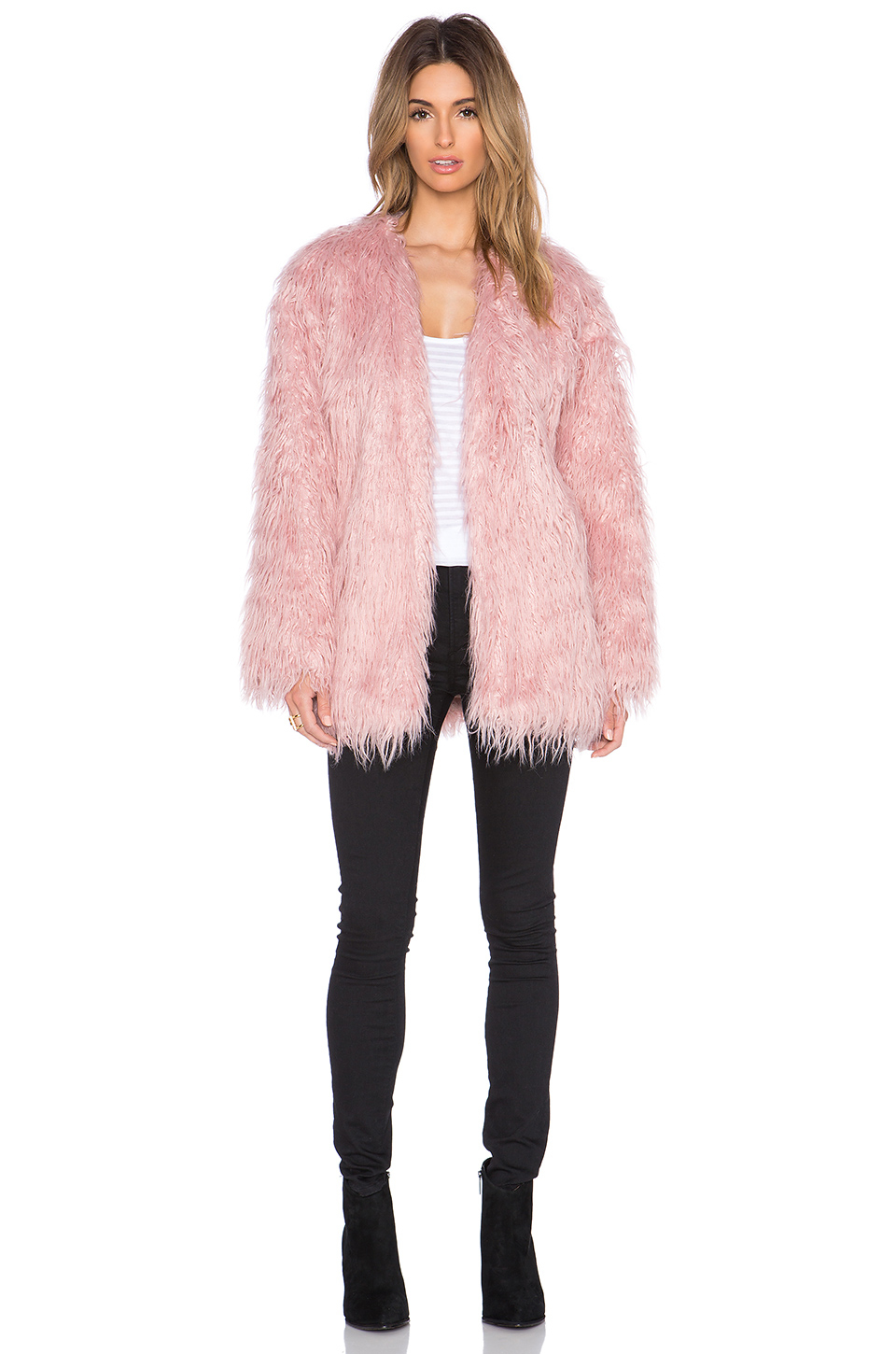 Somedays lovin Sacred Faux Fur Coat in Pink | Lyst
