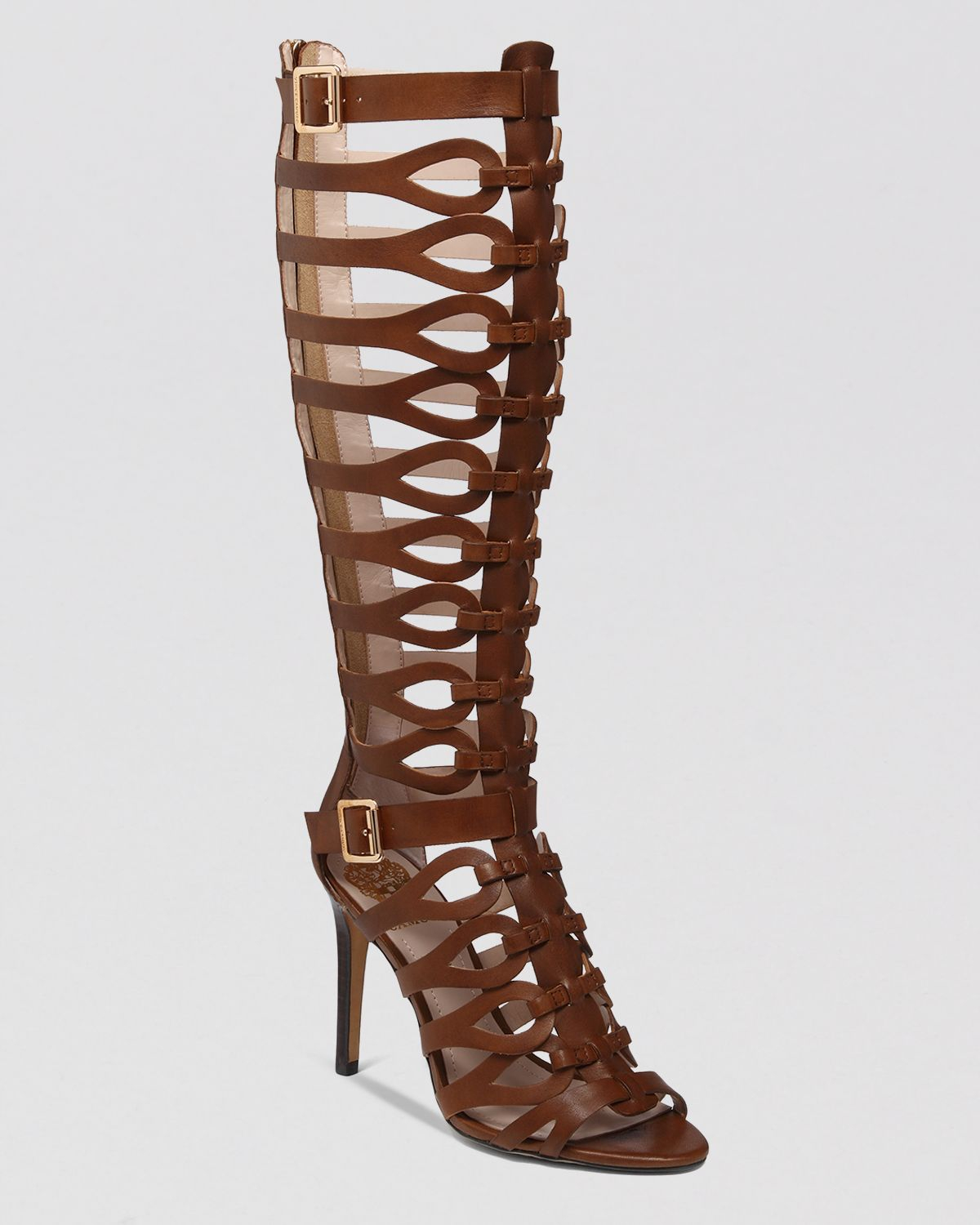 Vince Camuto Gladiator Sandals Omera High Heel In Brown Lyst