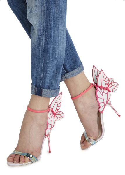 Sophia Webster Chiara Butterfly Leather Sandals In Pink Lyst