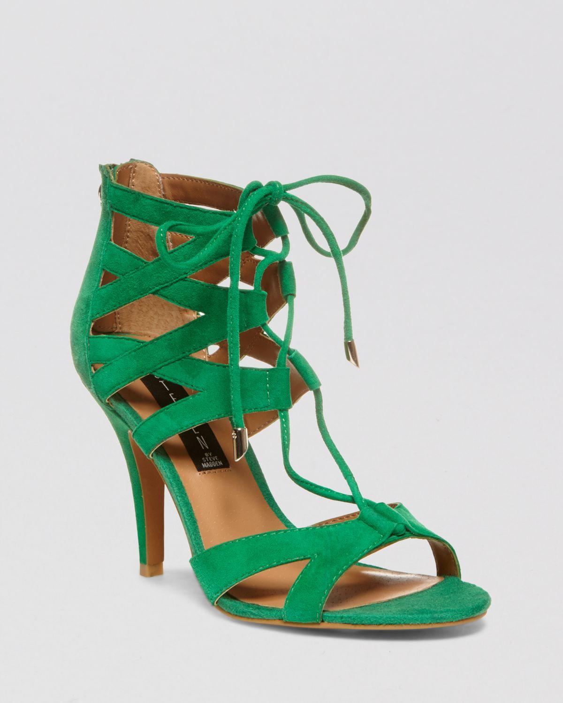 650dc6dc269 Lyst - Steven by Steve Madden Gingir High-Heel Sandals in Green