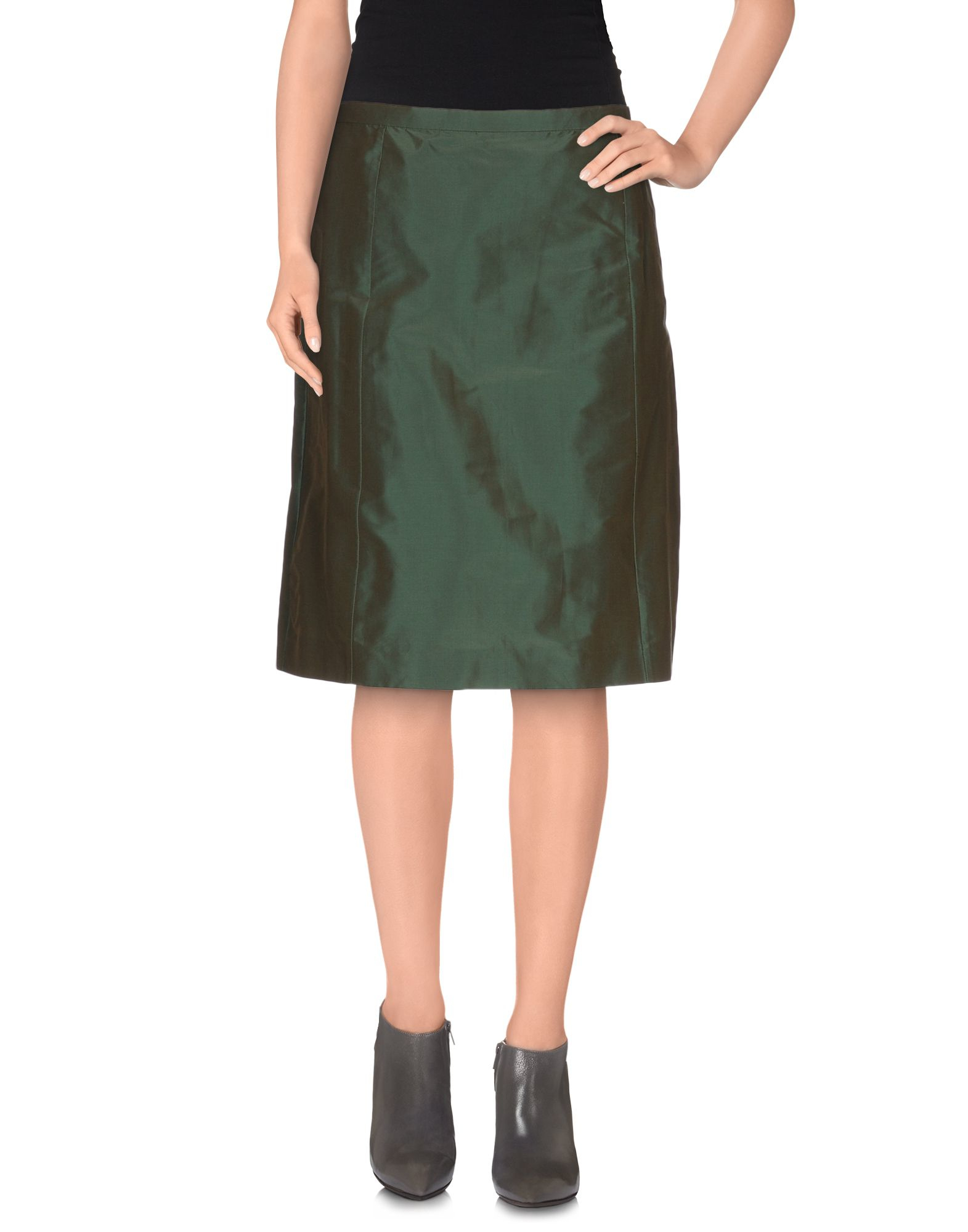 aspesi knee length skirt in green lyst