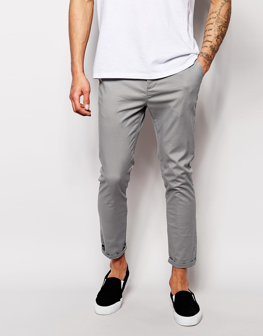 Cropped Mens Jeans