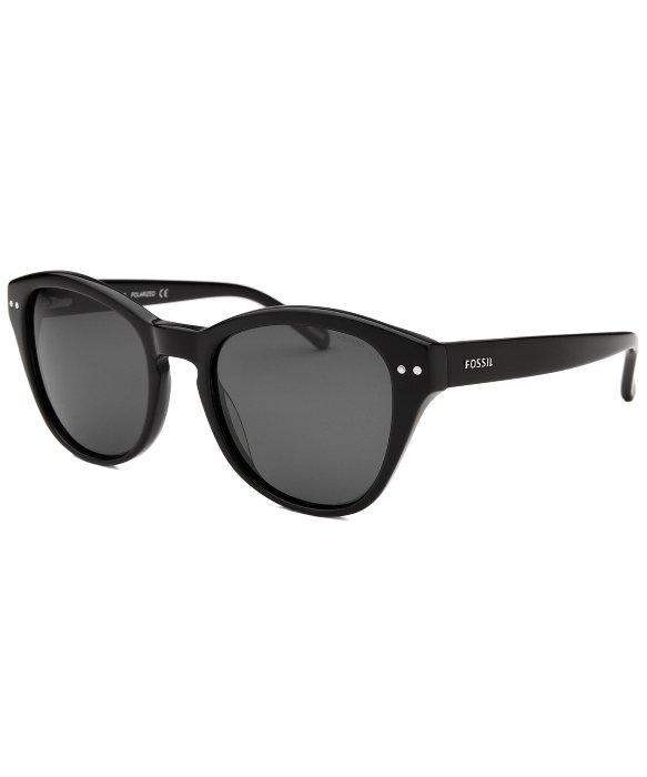 Fossil Womens Macie Wayfarer Black Sunglasses in Black for ...