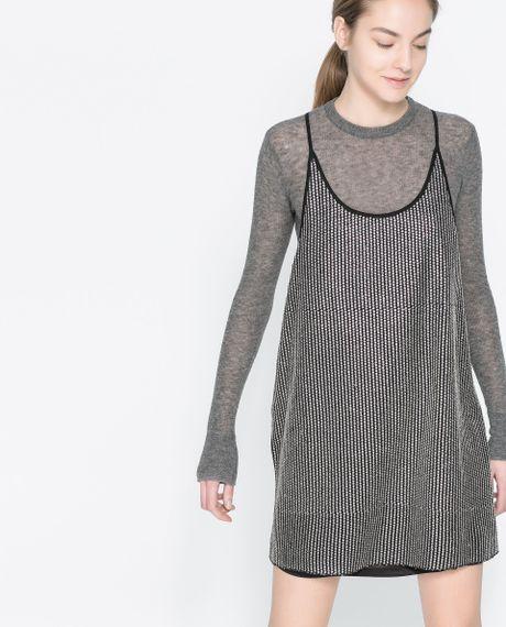 Zara Sequin Dress in Black