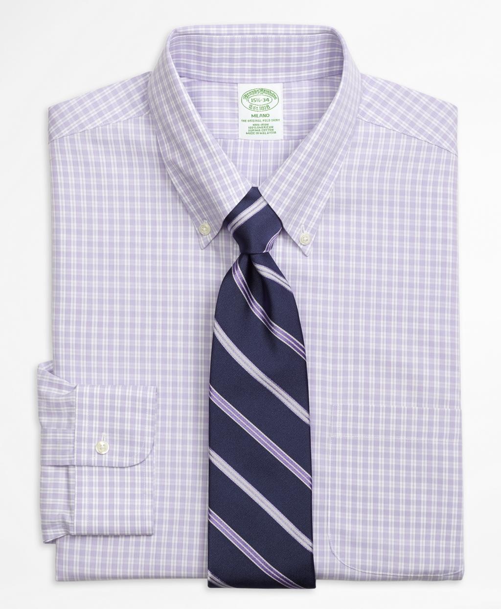 Brooks Brothers Regent Fit Non Iron Dress Shirt In Purple
