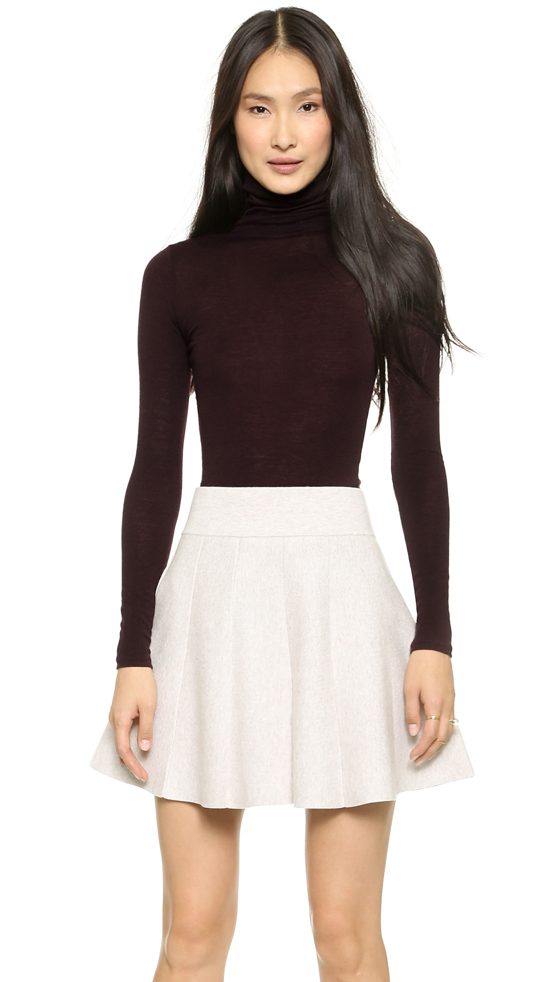 Club monaco julie turtleneck top soot black in purple for Discotheque a bordeaux