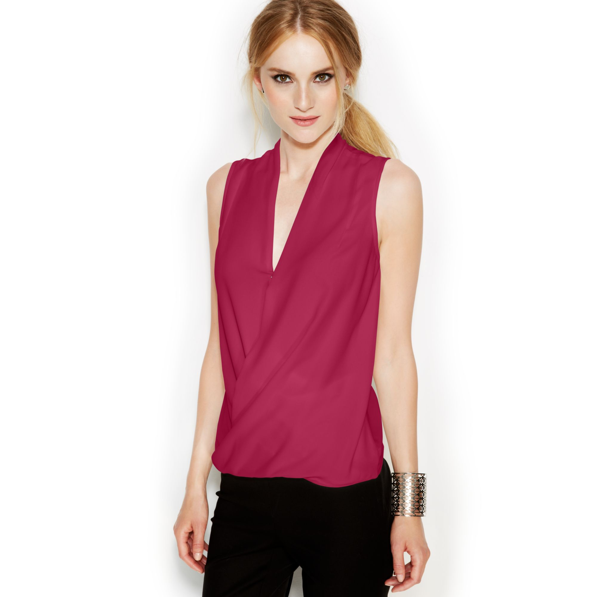 back product vino chaser in top tank sleeveless red normal drape clothing lyst gallery drapes draped
