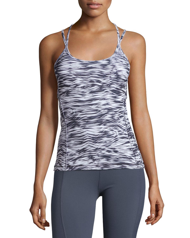 Alo Yoga Ananda Long Bra Tank In Gray