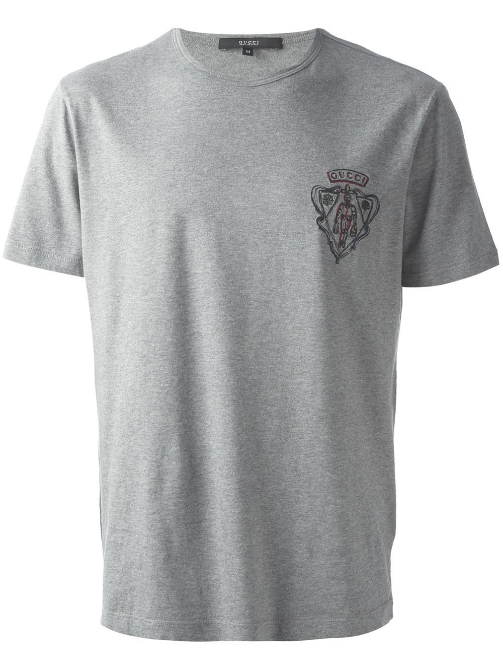 Lyst Gucci Logo Print T Shirt In Gray For Men