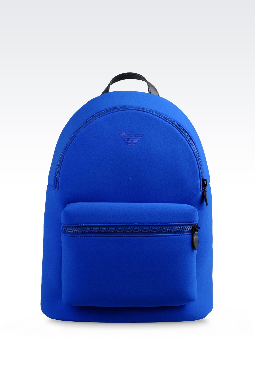 Emporio armani Runway Backpack In Neoprene in Blue for Men ...