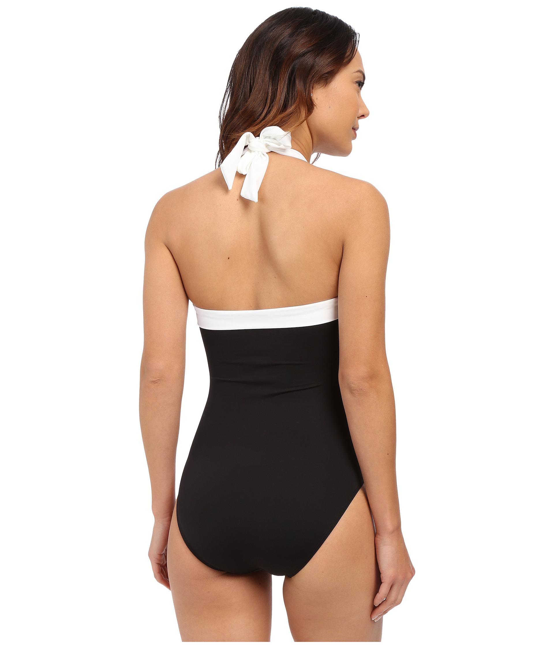 31ecaea7953 Novelty Lauren by Ralph Lauren Womens Bel Aire Shirred Bandeau Mio Slimming  Fit One-Piece LAUREN ...