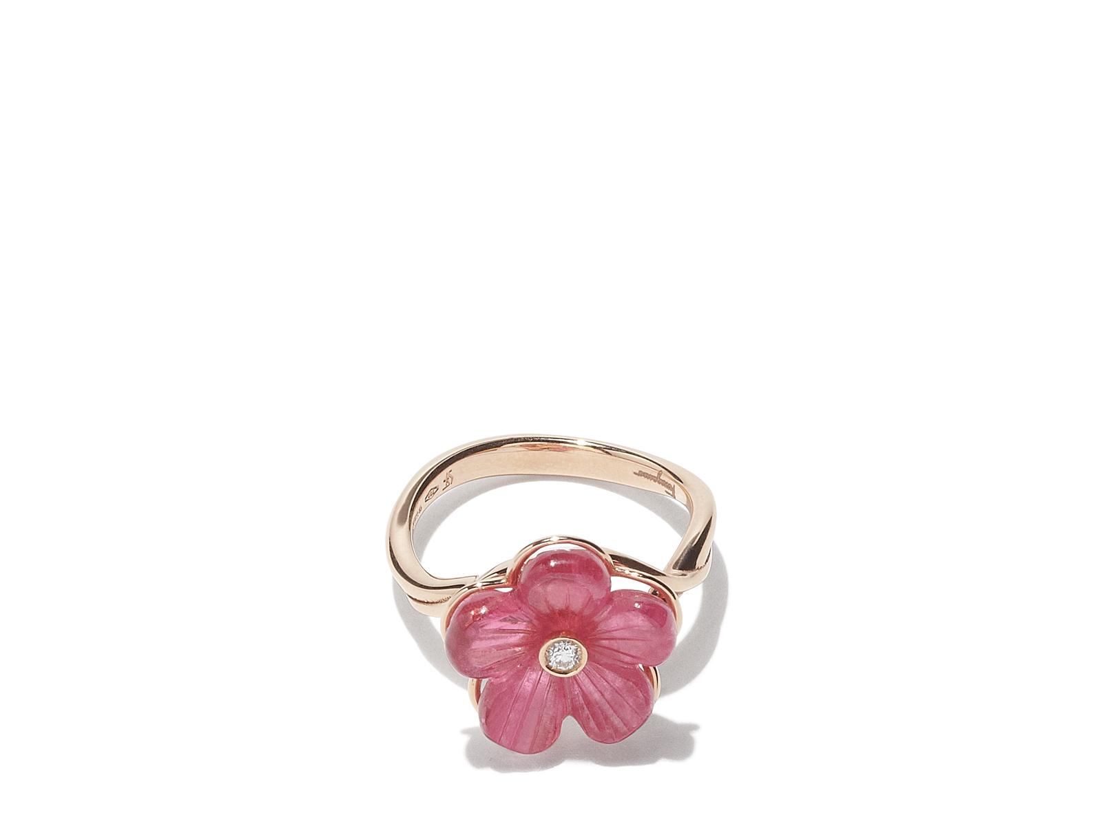 Ferragamo Flower Ring in Pink