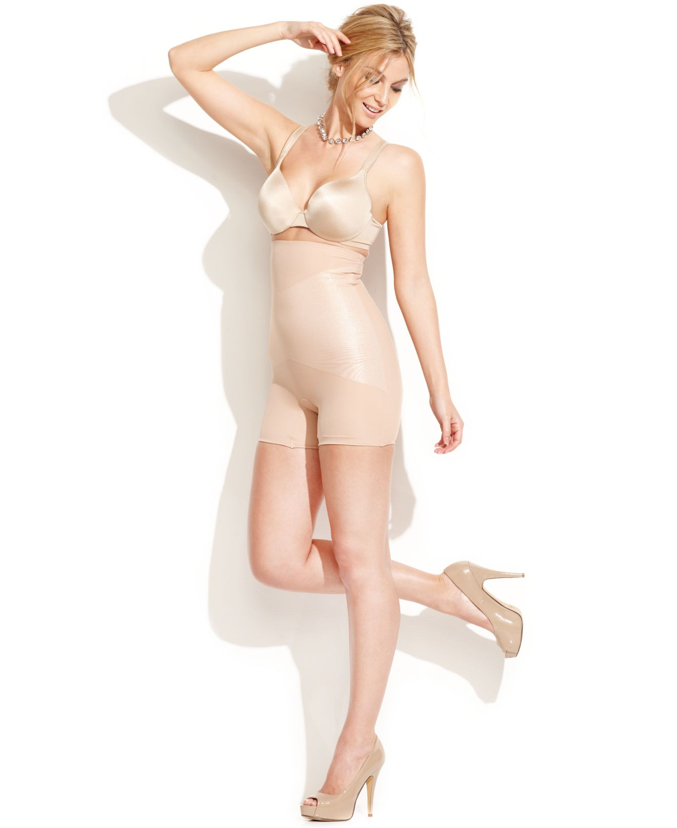 8f130d568dd Spanx Star Power By Firm Control Lady Luxe High-waist Girl Short ...