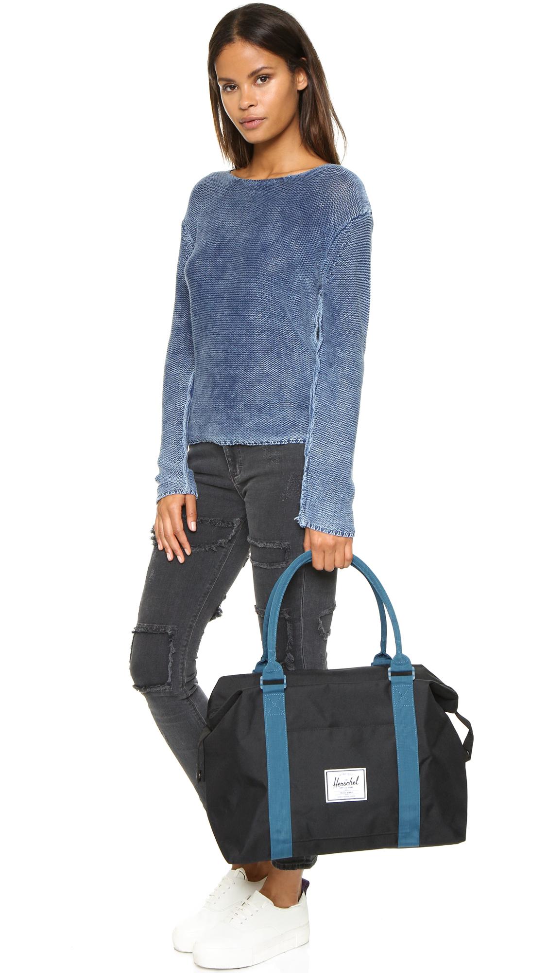 fa297bb2cb Lyst - Herschel Supply Co. Strand Duffel Bag - Black ink Blue in Black