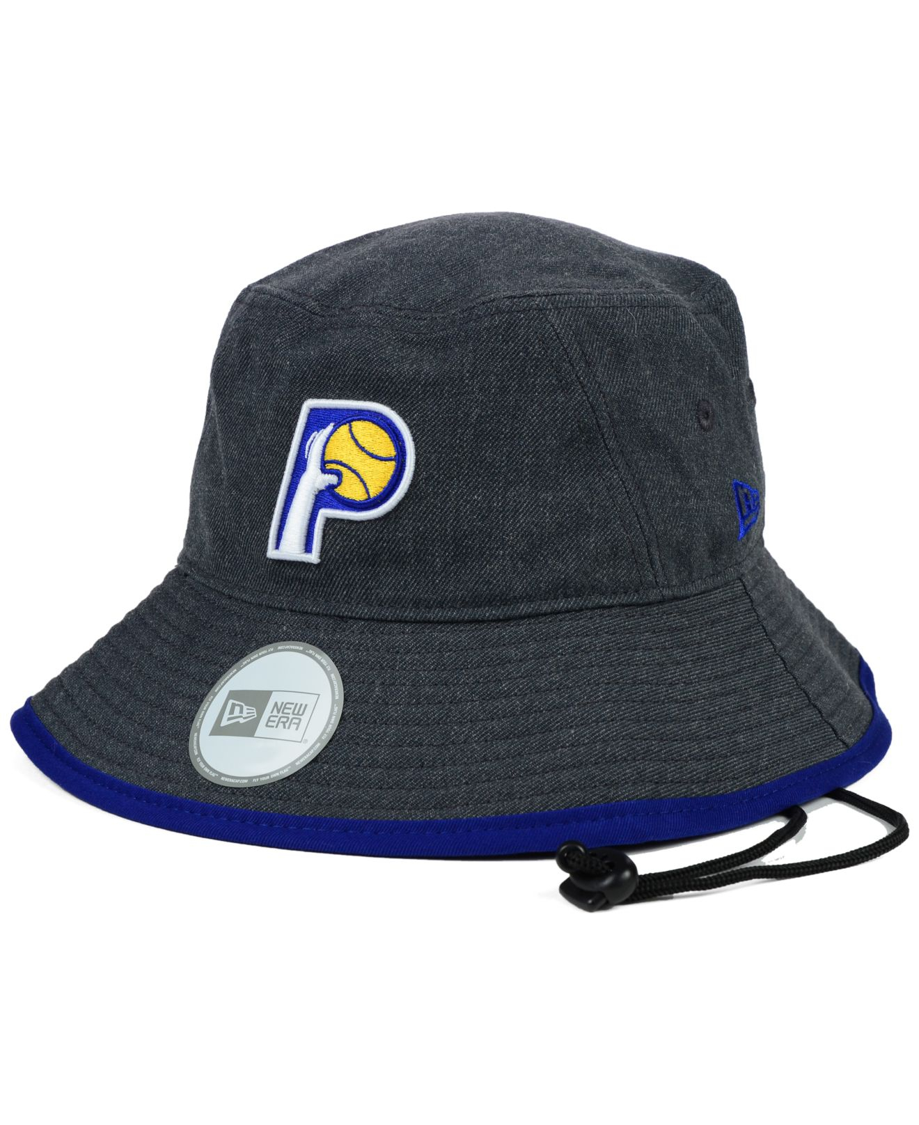 013a66ac9d1 Lyst - KTZ Indiana Pacers Dark Heather Tipped Bucket Hat in Gray for Men