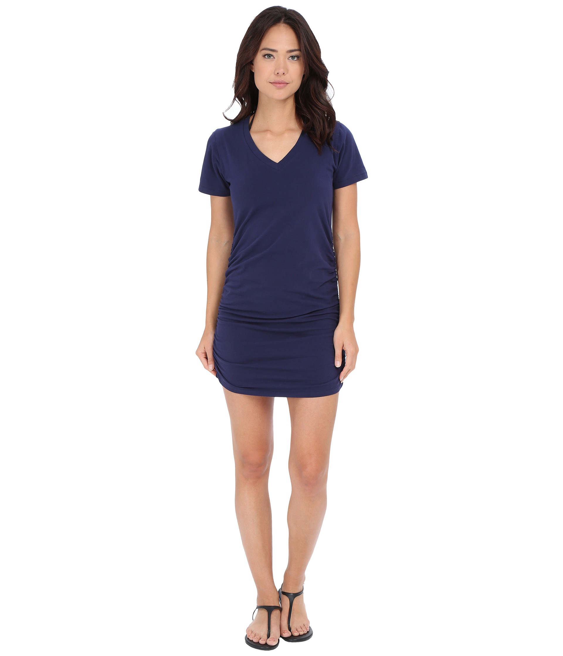 Lyst Tommy Bahama Knit Chiffon Shirred T Shirt Dress Cover Up In