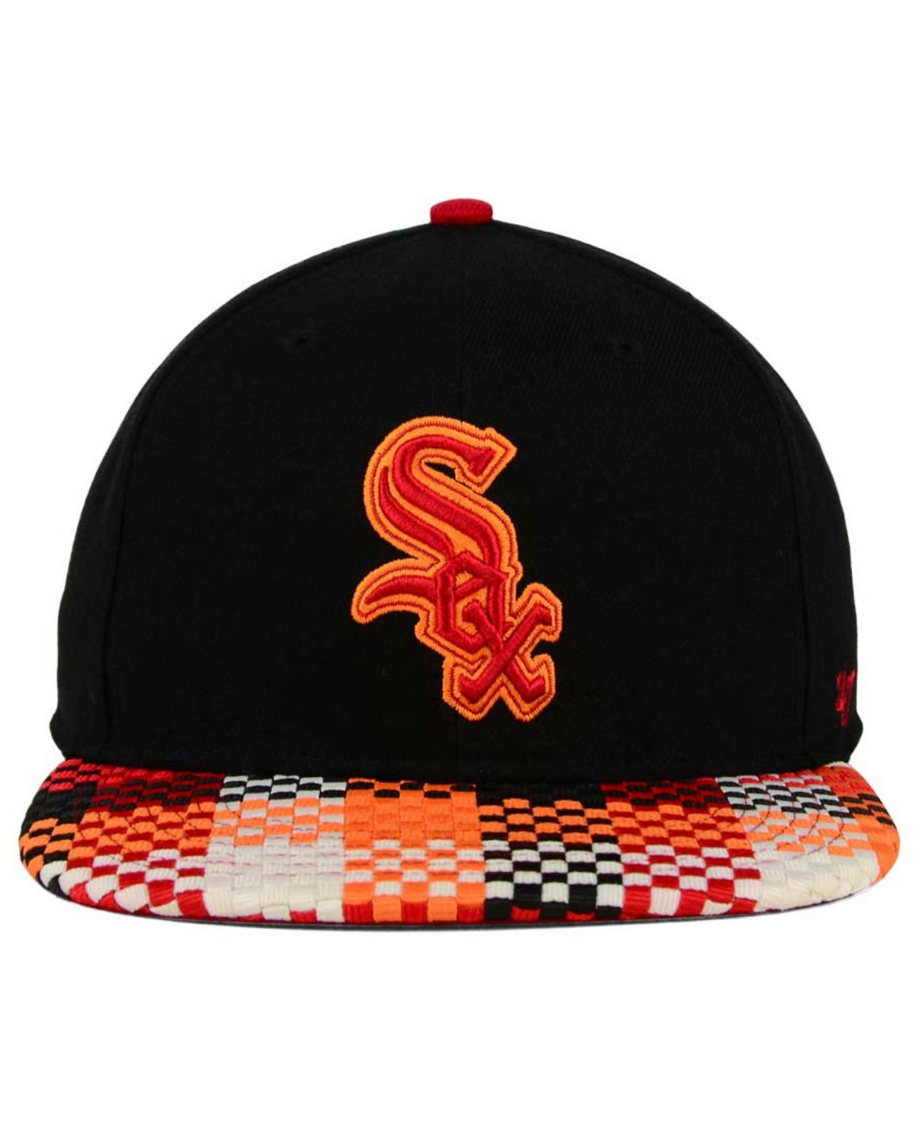41e12062be07a ... low price coupon code for lyst 47 brand chicago white sox ruffian  snapback cap in black