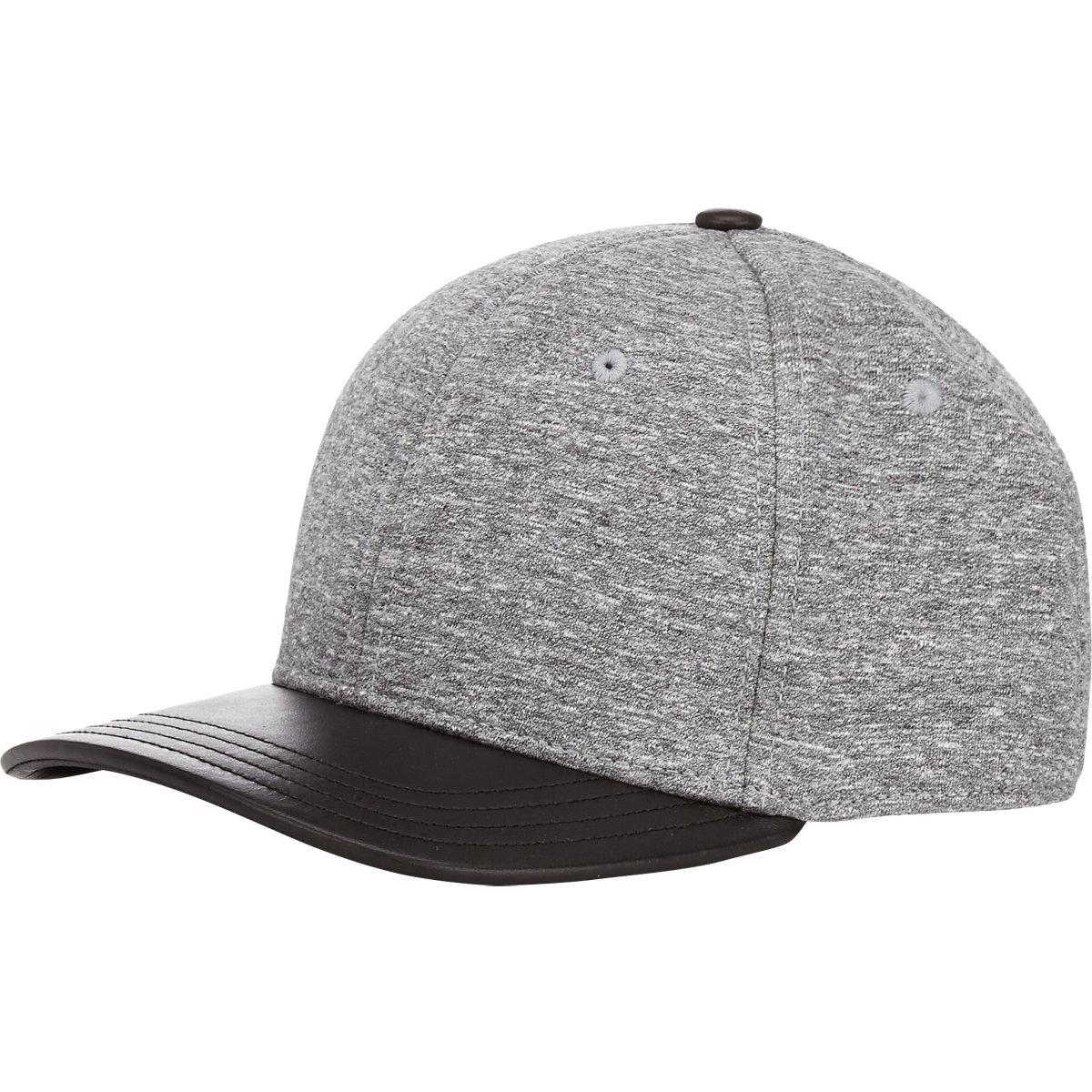 f639280a9a409 Rag   Bone Leather-brim Baseball Cap in Gray for Men - Lyst
