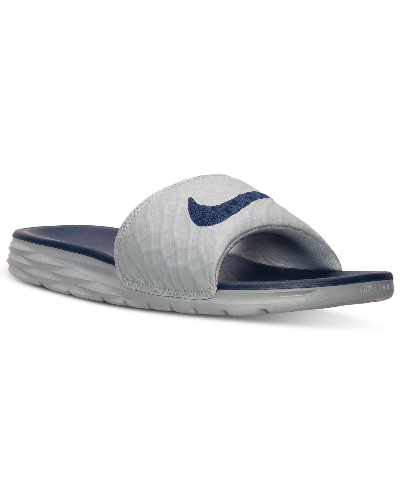Lyst - Nike Men s Benassi Solarsoft Slide 2 Sandals From Finish Line ... 50fc4399c17
