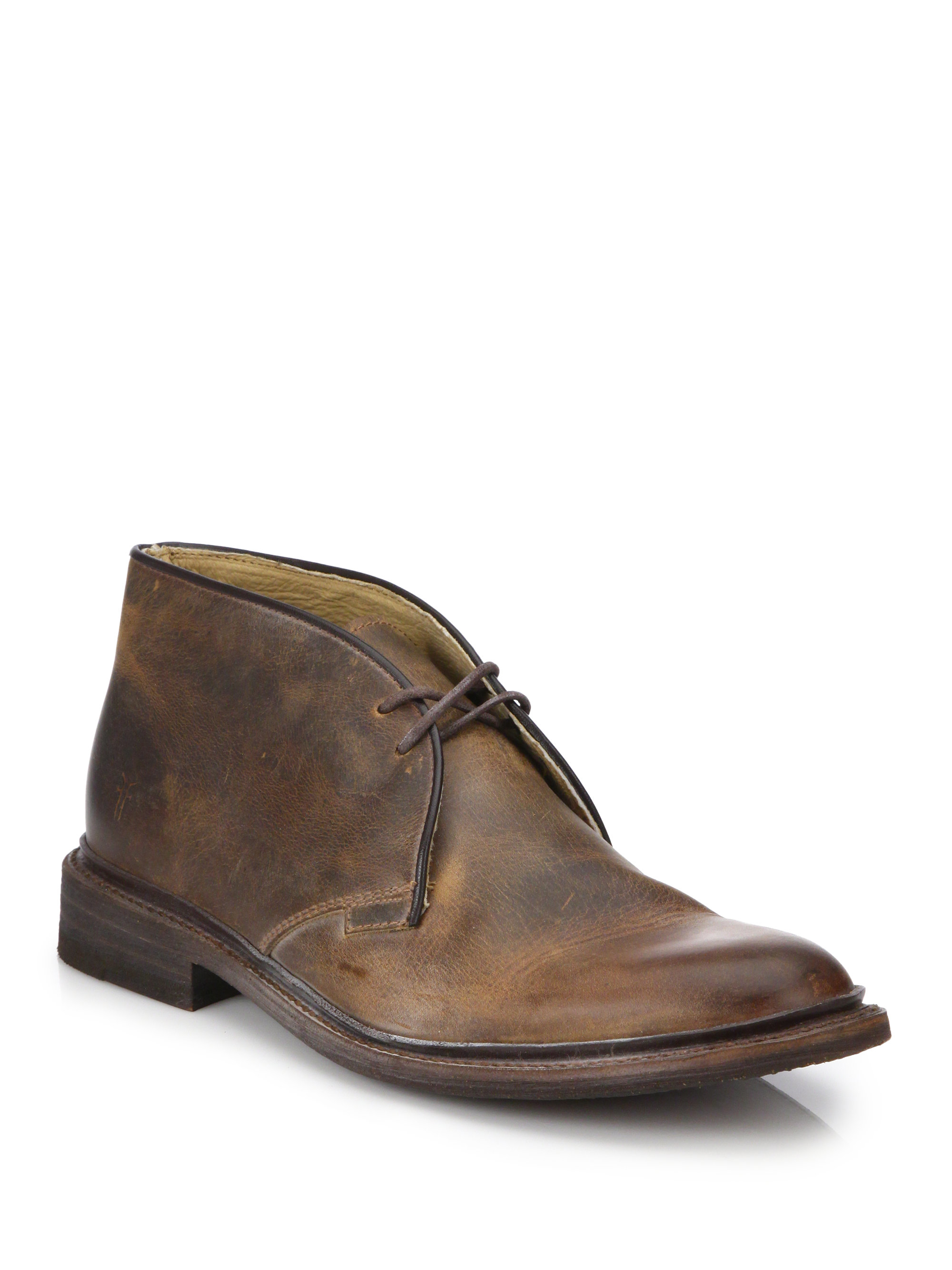 frye chukka lace up boots in brown for lyst