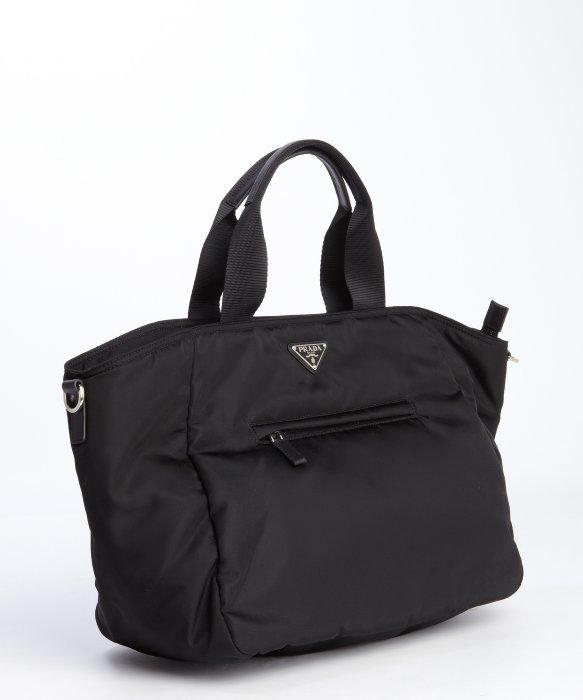 black and white prada purse
